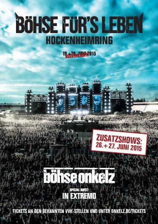 Böhse Onkelz Böhse Fürs Leben 2015 Wizard Promotions