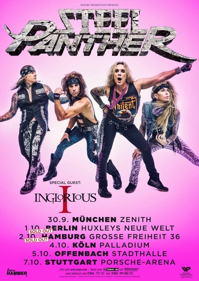 Steel Panther Tour Poster