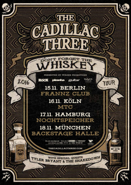 the cadillac three - don't forget the whiskey - tour 2016 - wizard