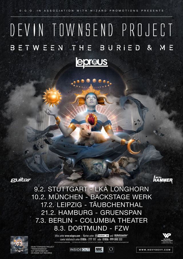Devin Townsend Project Transcendence Tour