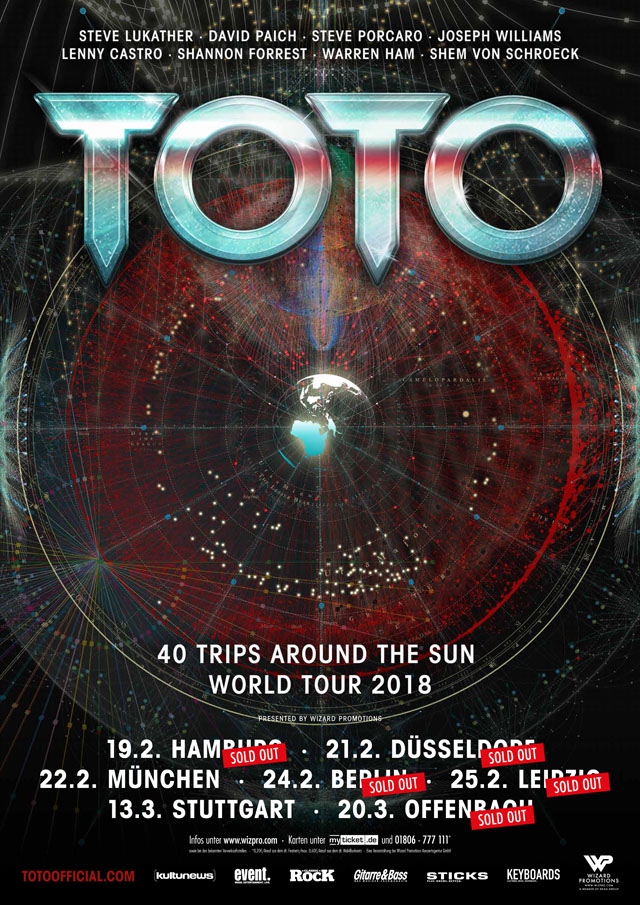 Toto 40 Trips Around The Sun World Tour 2018 Wizard
