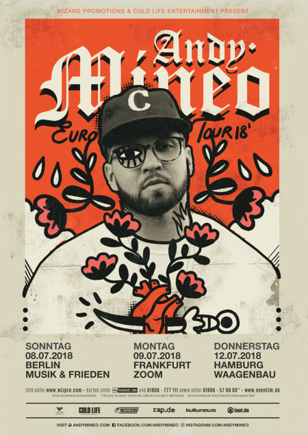 Andy Mineo 2018 Europe Tour Wizard Promotions