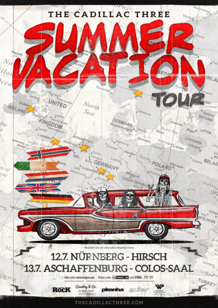 the cadillac three - summer vacation tour 2018 - wizard promotions