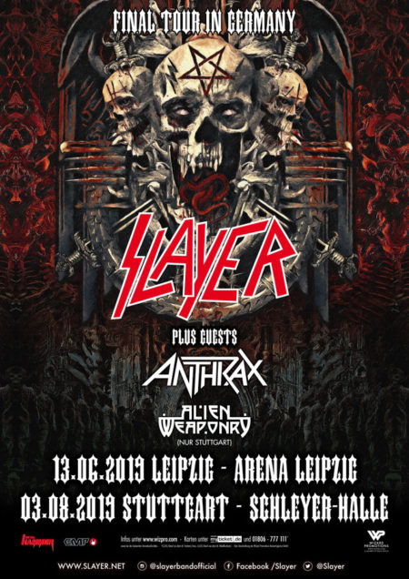 Slayer Tour 2019 Slayer   Final Tour In Germany 2019   Wizard Promotions