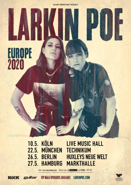 Jackson Browne Tour 2020.Larkin Poe Europe Tour 2020 Wizard Promotions